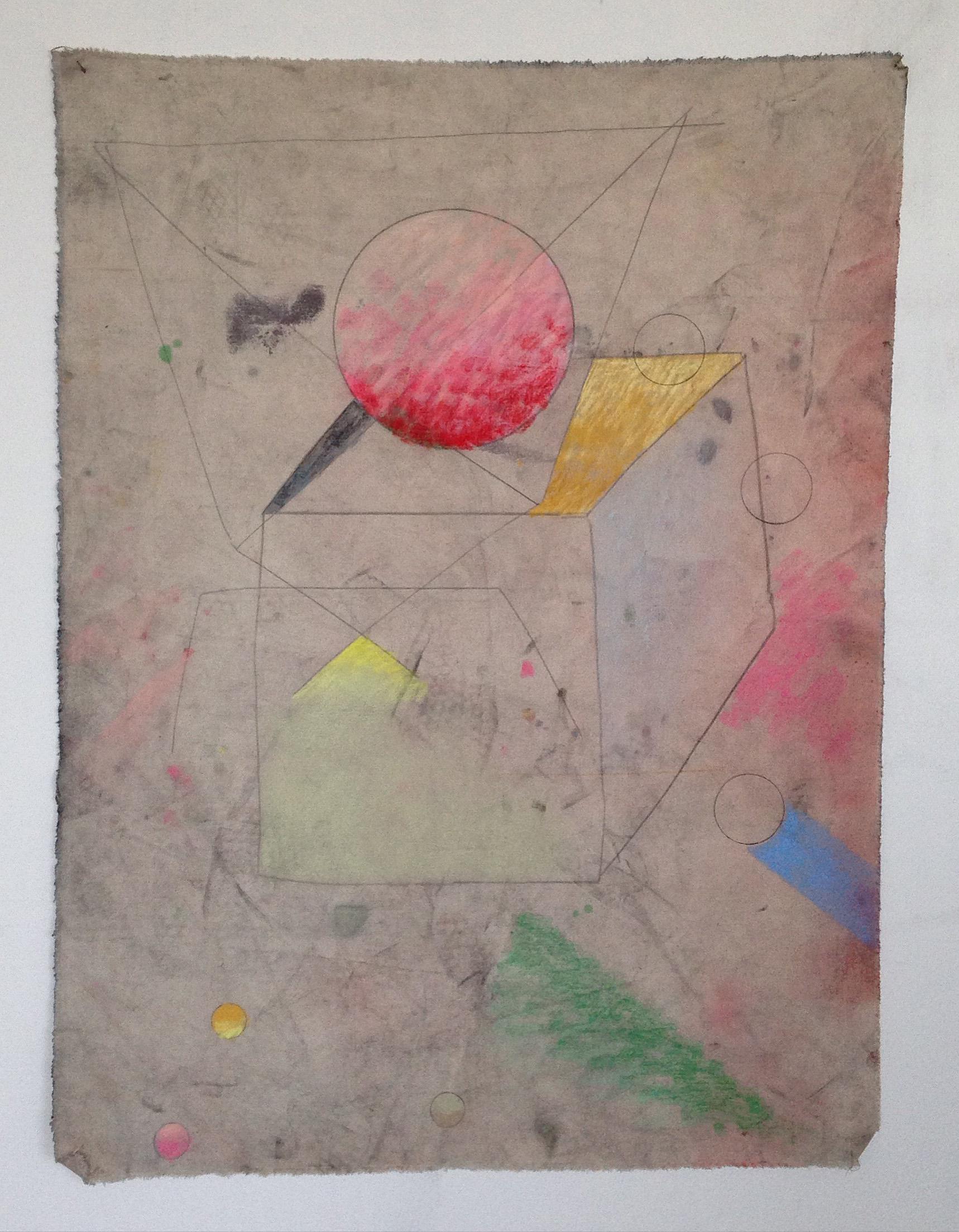 Noises, 2015 Pencil, pastel and canvas,104.5 x 79 cm