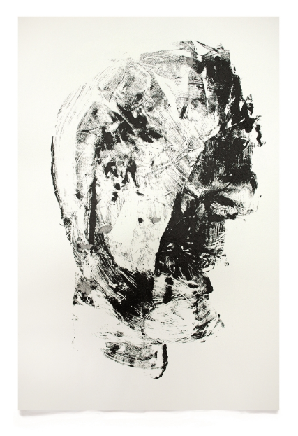 Stone Head, 2010, Whitney McVeigh (Acrylic on paper; 76 x 56 cm)