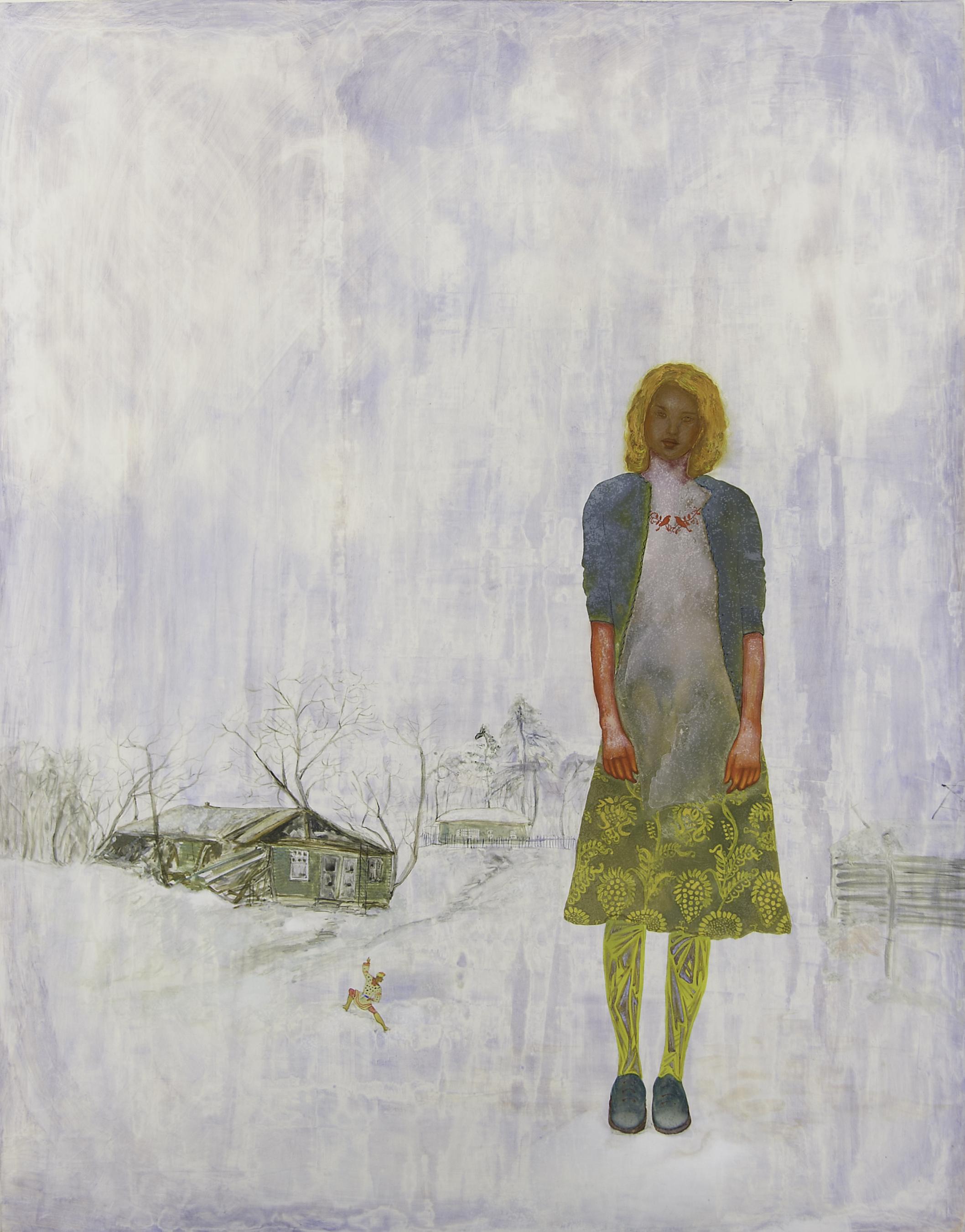 SMIRNOFF A Girl on The Snow Ball, 90x70, Egg Tempera on Wood, 2007.jpg