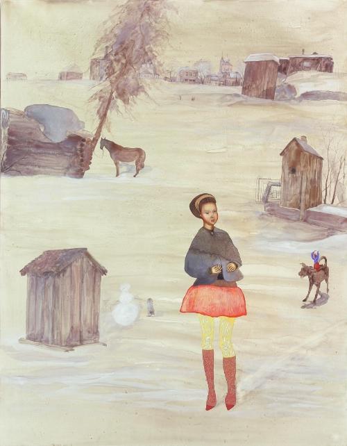 Alisa, 2004,Egg tempera on wood, 90 x 70 cm