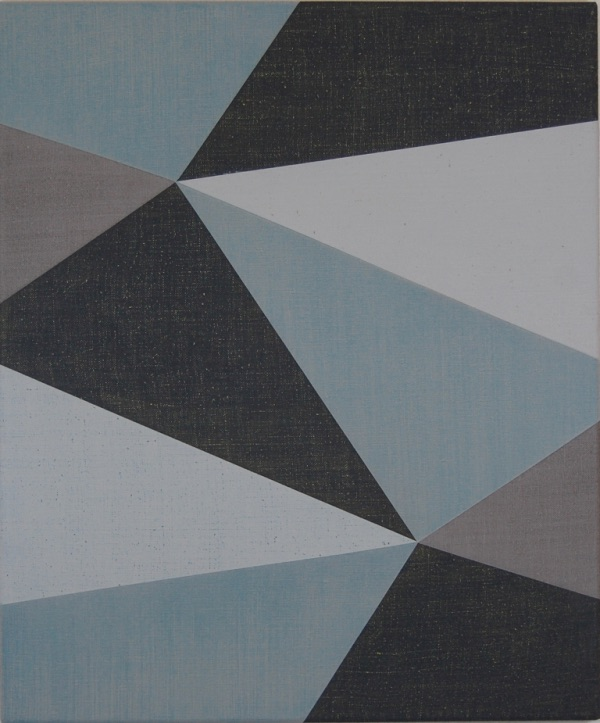 Double Hexad Blue, 2011, Acrylic on linen, 60 x 50 cm