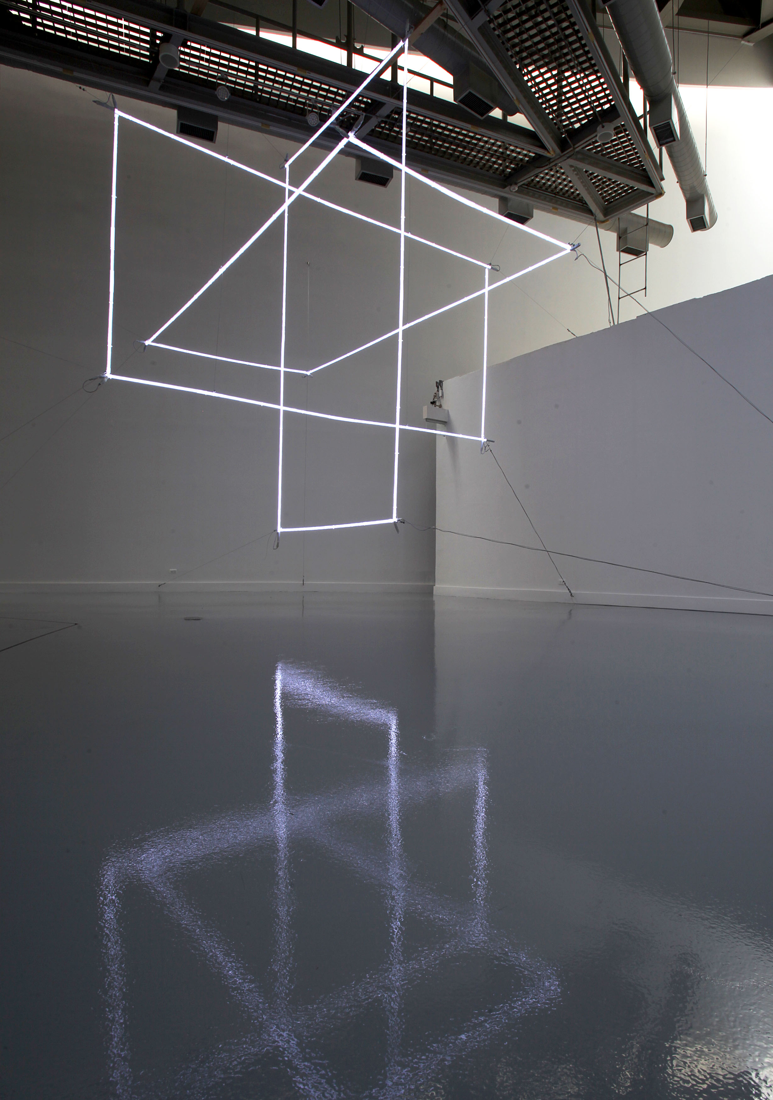 Platonic Spin, 2013,Neon, sequenced control system