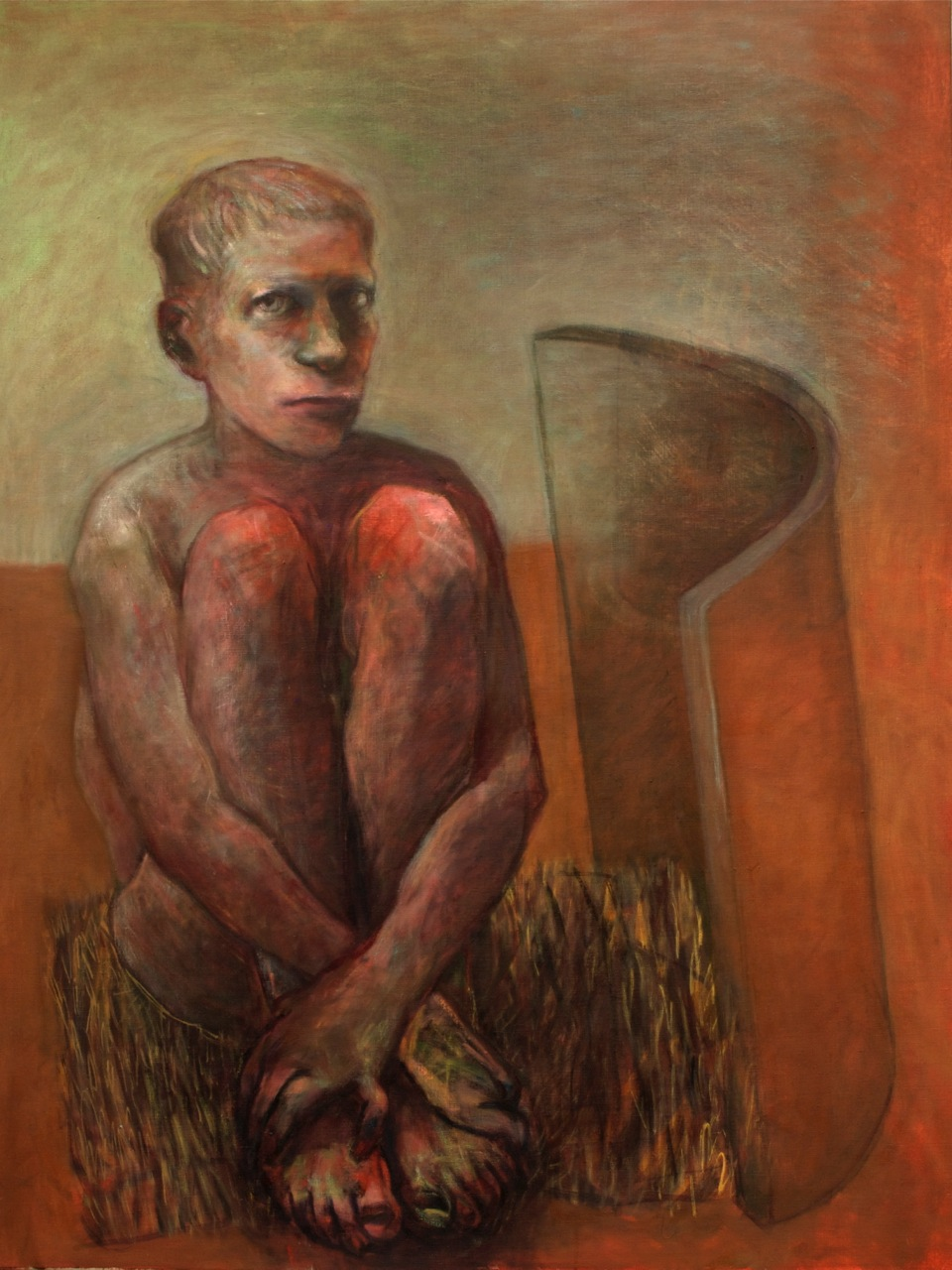 Warrior 1, 2010, Oil on Canvas, 101 x 77 cm