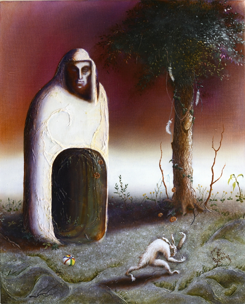 The Man Was Alone, 2015-16, oil on linen, 50 x 40 cm