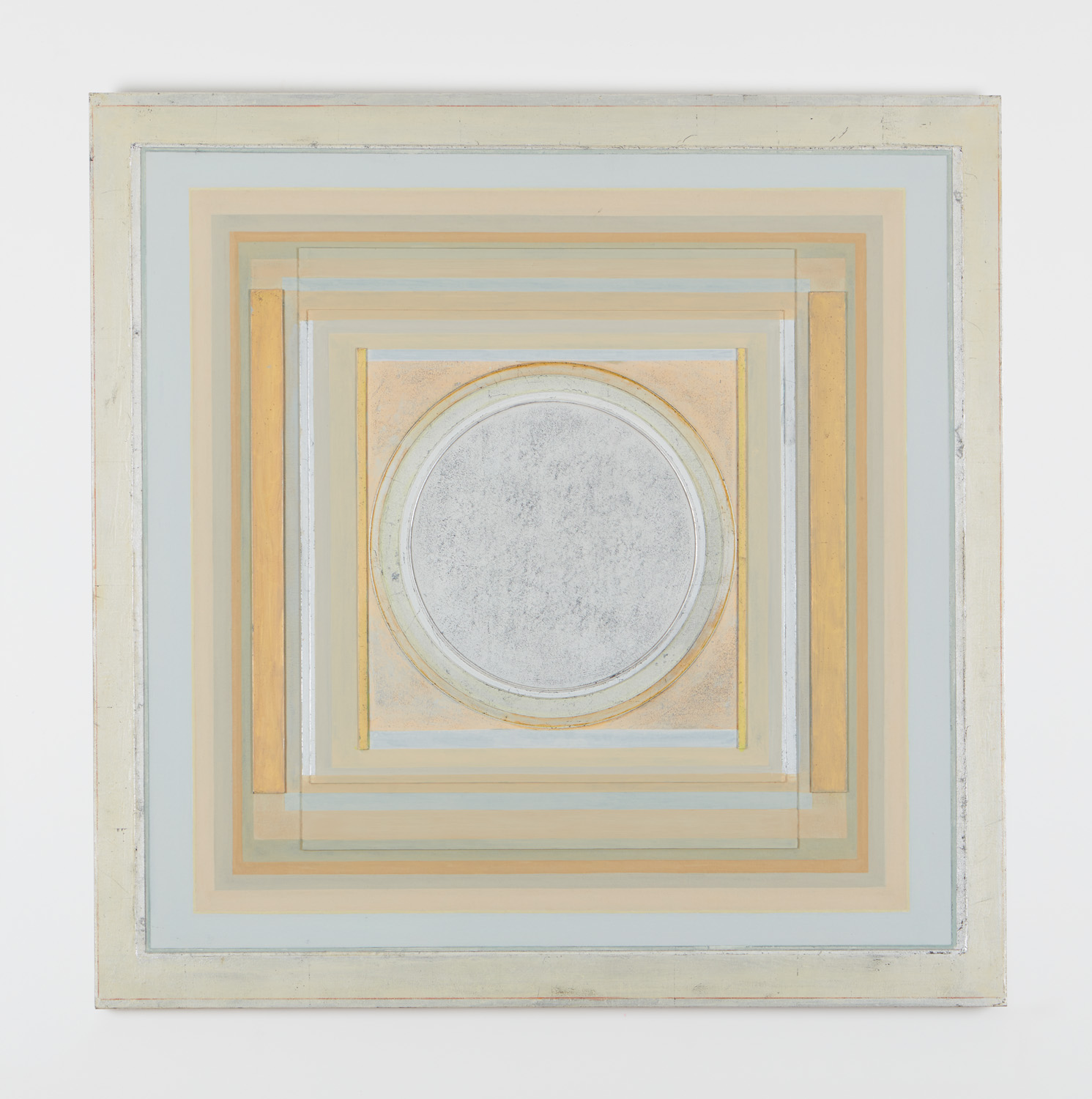 """Zenicon XV, 2006,40"""" x 40"""", gold and silver leaf on gessoed board on canvas"""