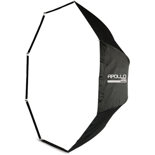"Westcott Apollo Orb Octabox (43"")  - this modifier is designed for an optimized light output, due to the highly-reflective silver interior lining.  This circular design helps to simulate the appearance of the sun creating amazing catch-light in the subjects eyes."