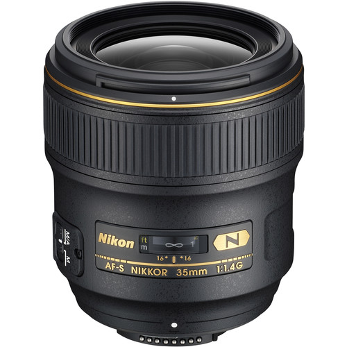 *Nikon AF-S NIKKOR 35mm f/1.4G Lens- This is a good mid range lens.