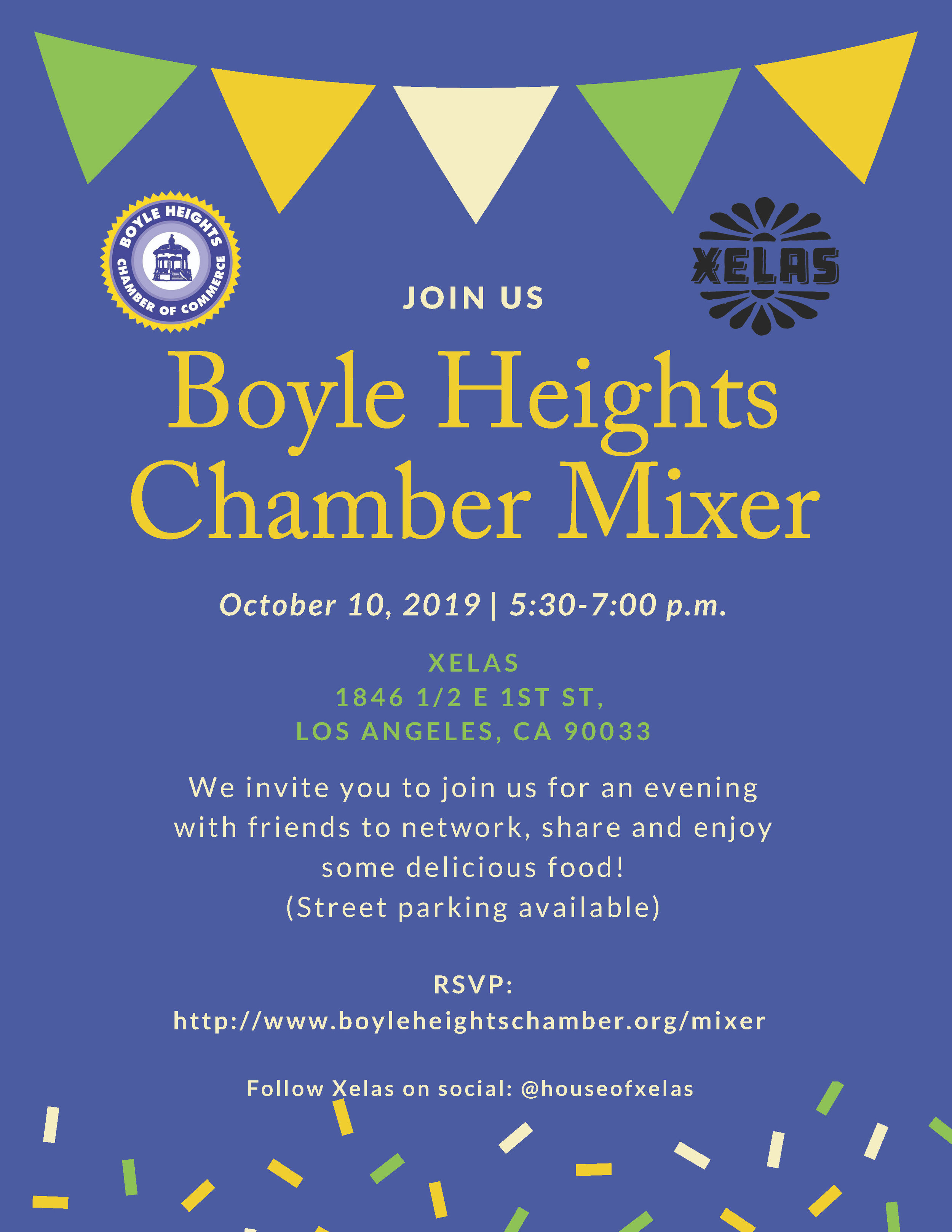 Join Us for the our next Member Mixer! - October 10, 2019, 5:30pa - 7:00pXelas1846 1/2 E. 1st Street, Los Angeles, CA 90033Please RSVP HERE.