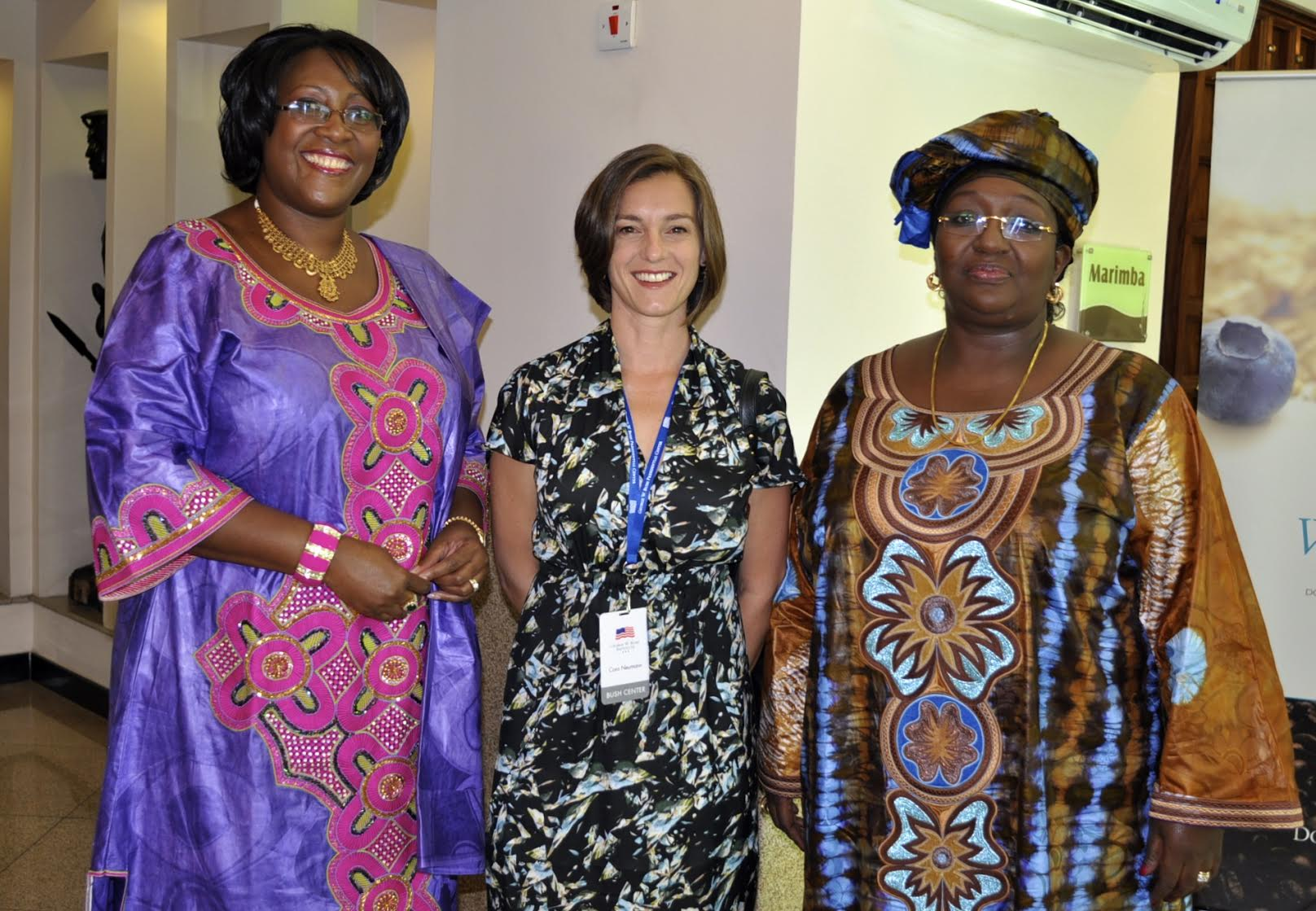 Cora  with First Lady Dr. Kaseba (Zambia), and First Lady Koroma (Sierra Leone) during the 2013 First Ladies Summit in Tanzania, which brought 12 African First Ladies, Michelle Obama and Laura Bush together to discuss challenges facing women and girls in Africa.