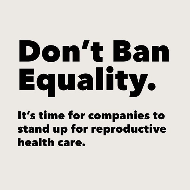 Equality in the workplace is one of the most important business issues of our time; access to comprehensive reproductive health care is pivotal to equality. I'm proud to be a signatory in the historic @nytimes statement featuring more than 180 other corporate executives who agree. To learn more, visit www.DontBanEquality.com for the full list of signatories whose companies represent more than 100k workers. #DontBanEquality - @alexandraostrow, founder of @whywhisperco