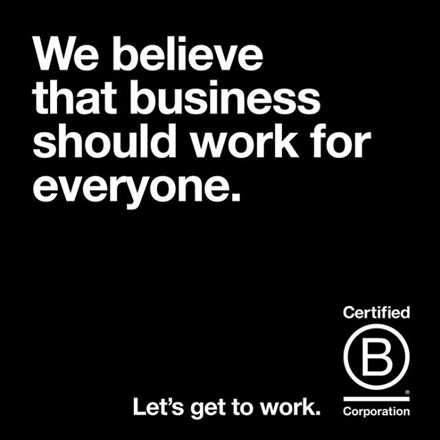 Don't you? #BCorps value people and the planet, not just profits. We aspire for all business to do the same. Join us!