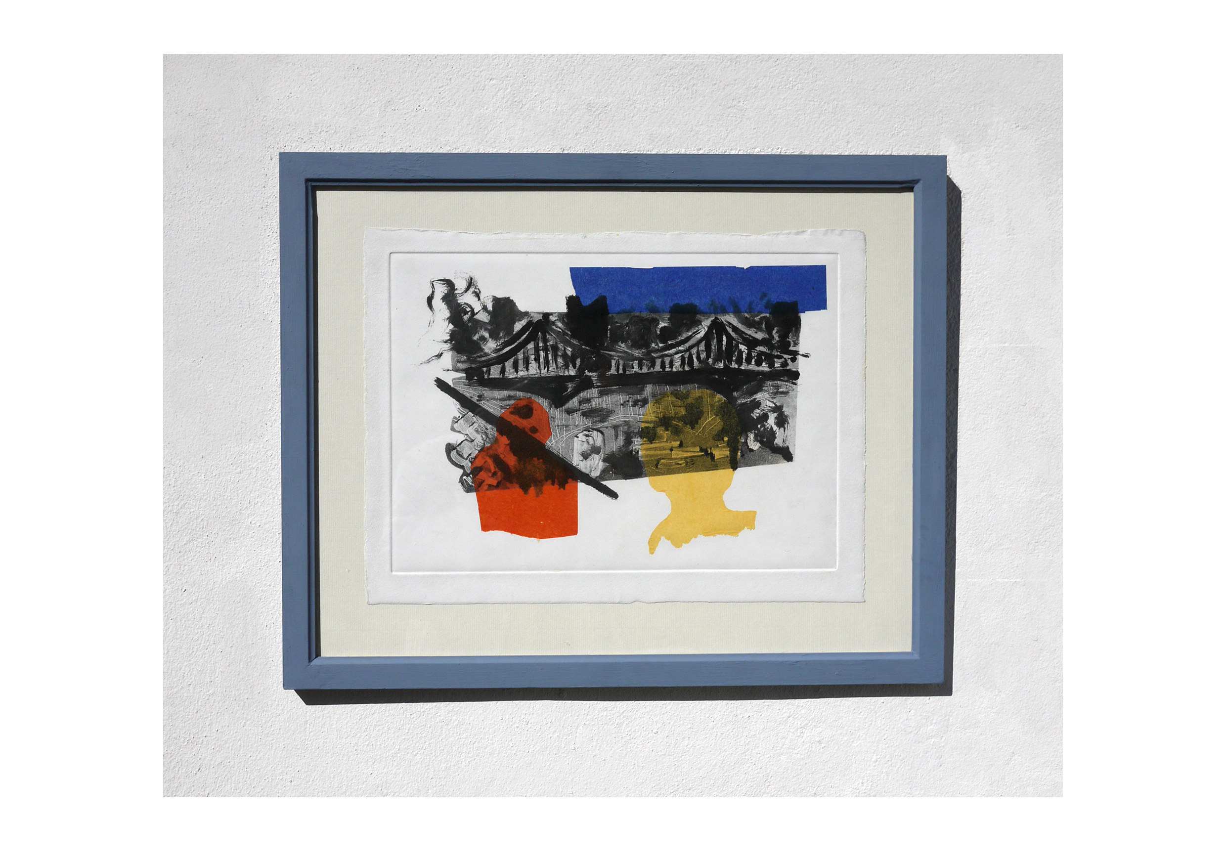 Monoprint and chine-collé in handmade frame. 51.5x41. 2015