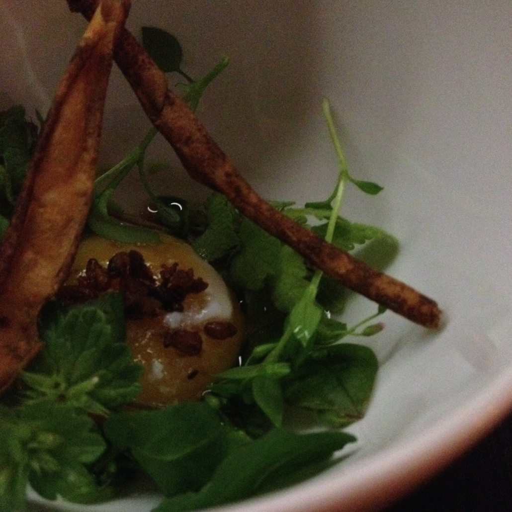 The first of many amazing courses at Nashville's Catbird Seat