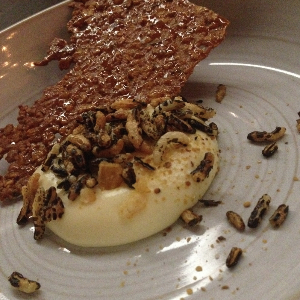 """""""Beer cheese and bar nuts"""" - the cheese course at the Catbird Seat"""