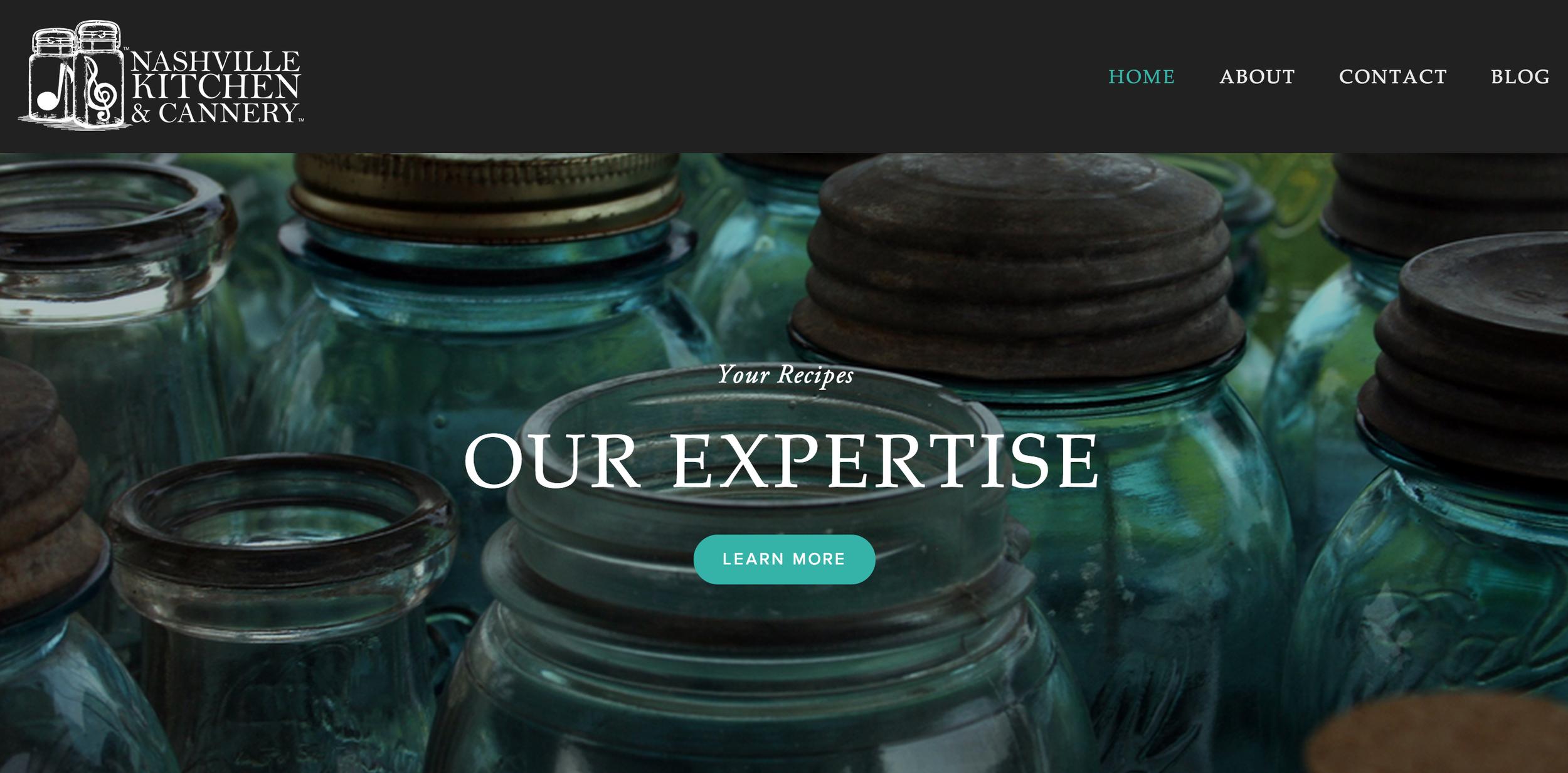 Website design for Nashville Kitchen & Cannery