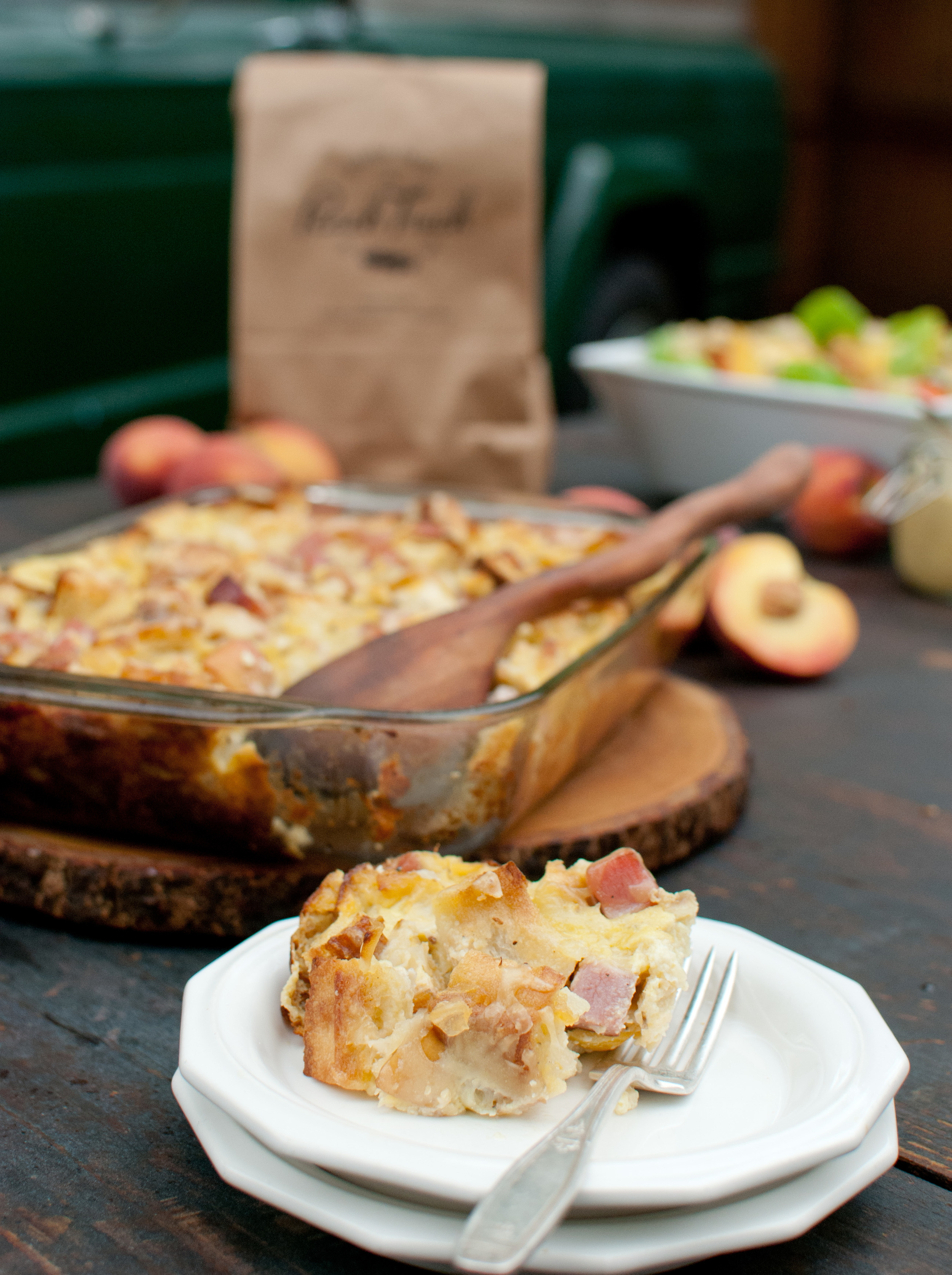 Food Sheriff | Recipe Development | Ham & Gruyere Strata with Fresh Peaches