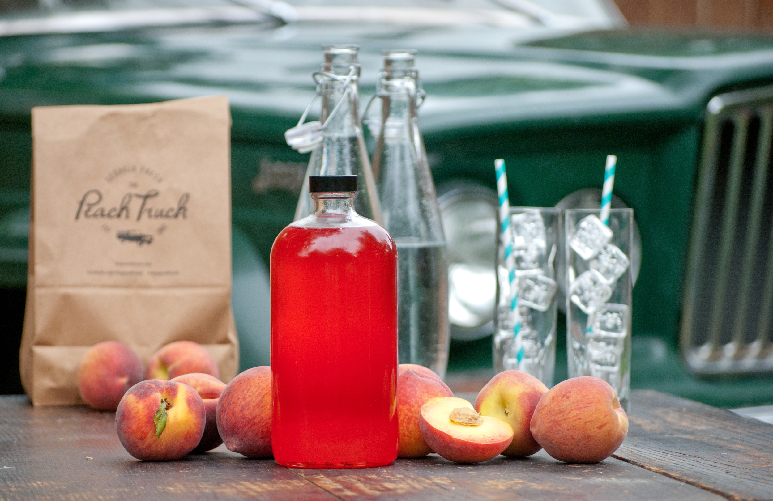 Food Sheriff | Recipe Development | Fresh Peach Syrup