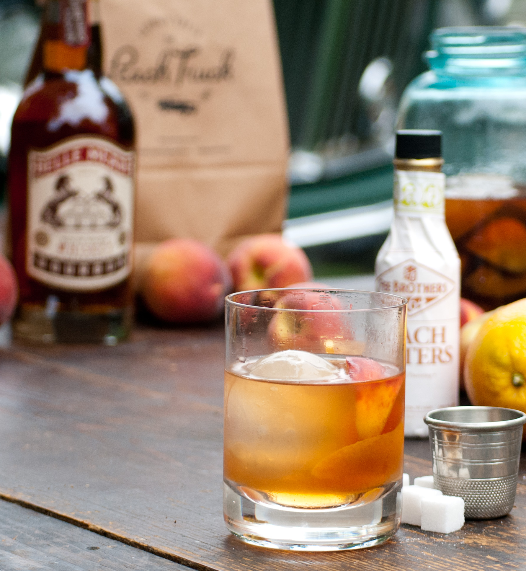Food Sheriff | Recipe Development | Peach Old Fashioned