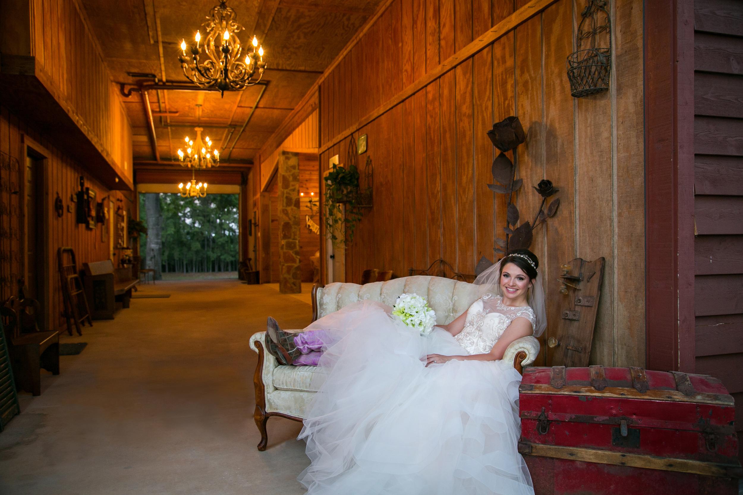 A model bride from a photo shoot takenin our beautiful breezeway.