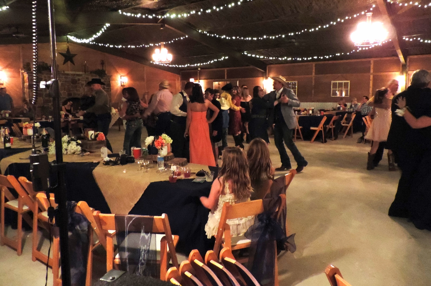 Guests enjoying a dance in the Reception Hall.