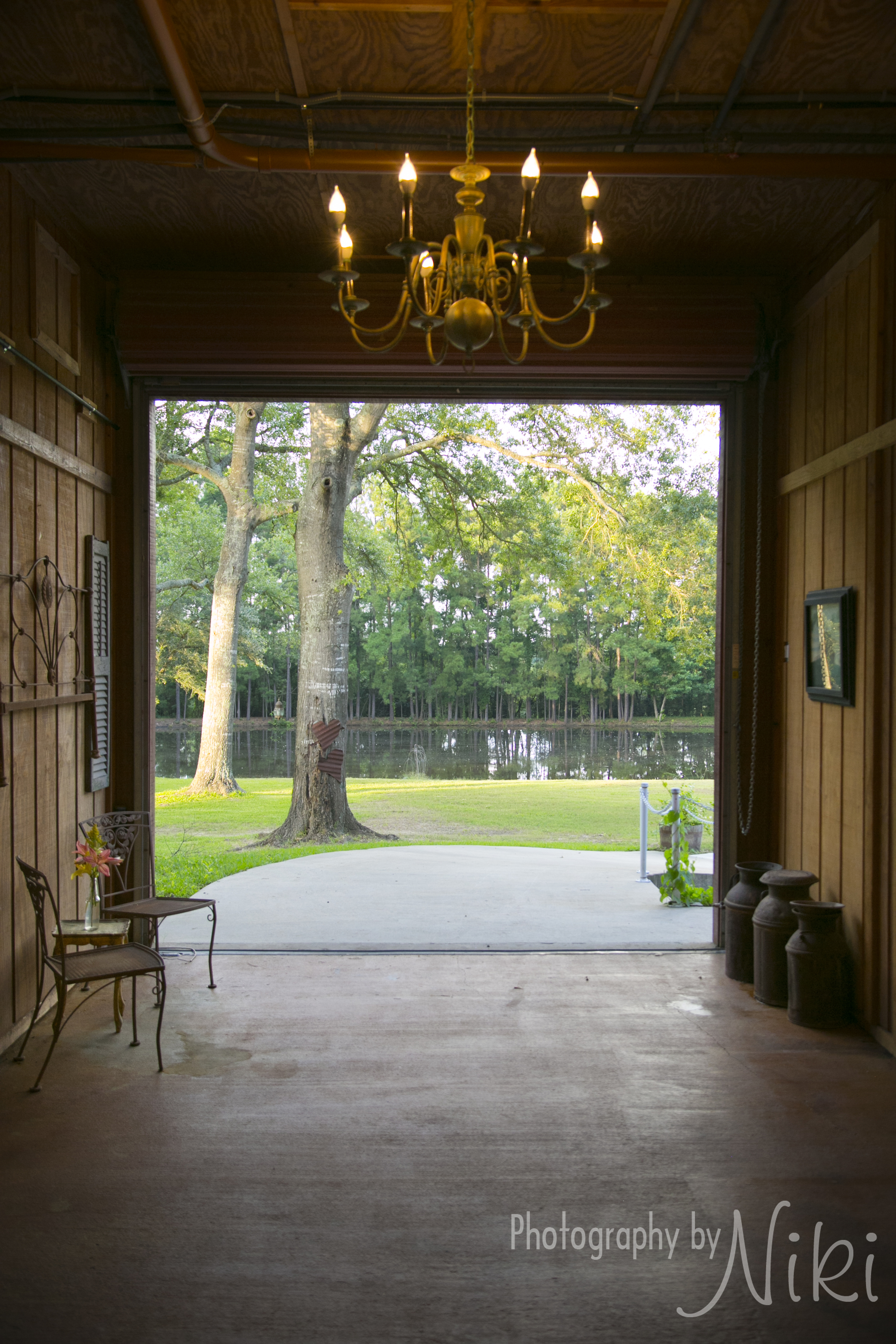 A view of the pond through the Breezeway.