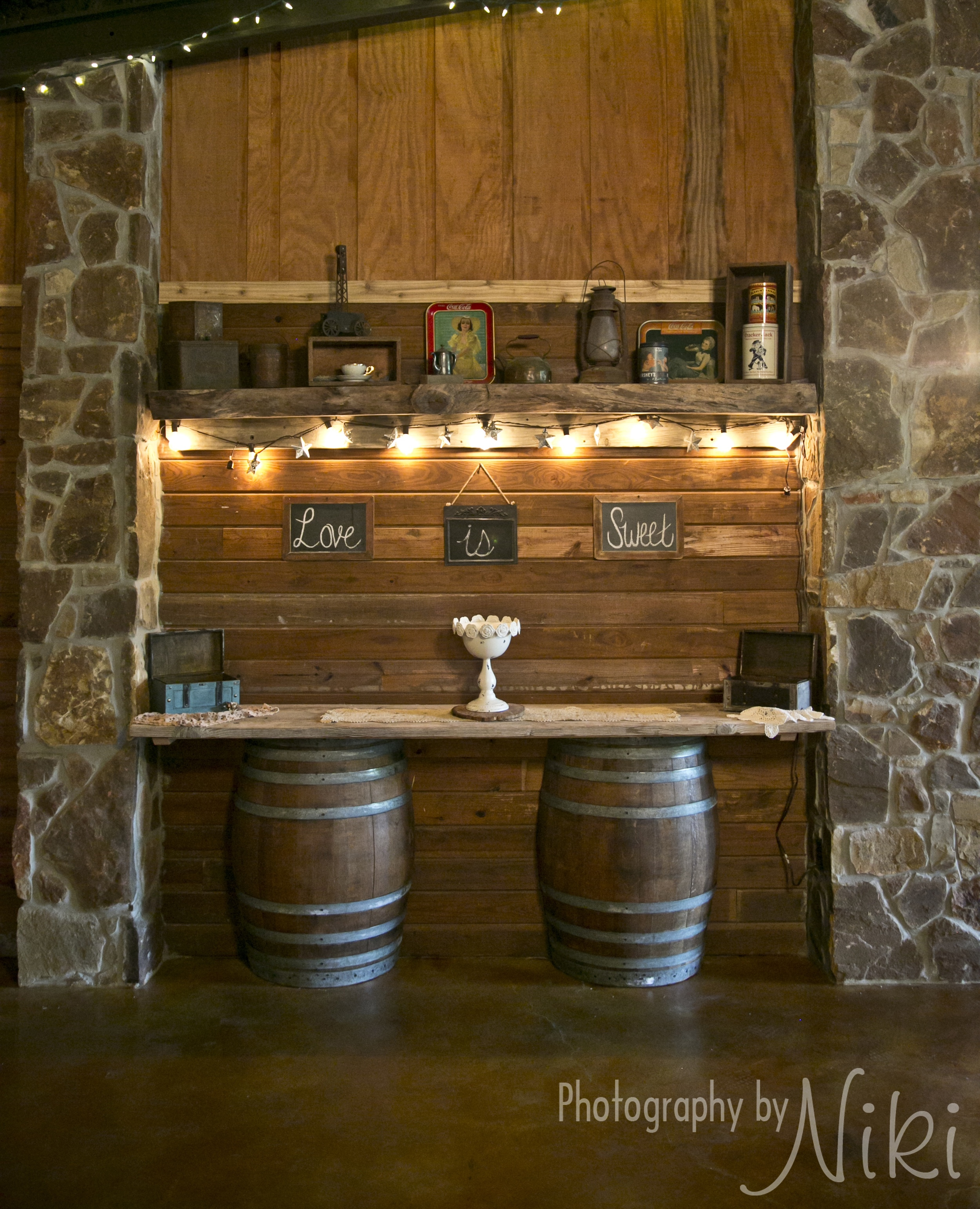 Beverage Bar lit up and ready to go.
