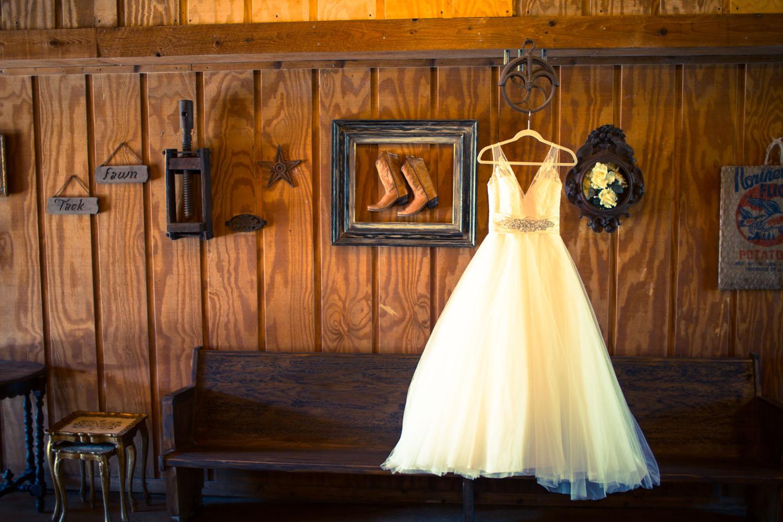 One of ourbride's dresses takenat her Bridal Shoot.