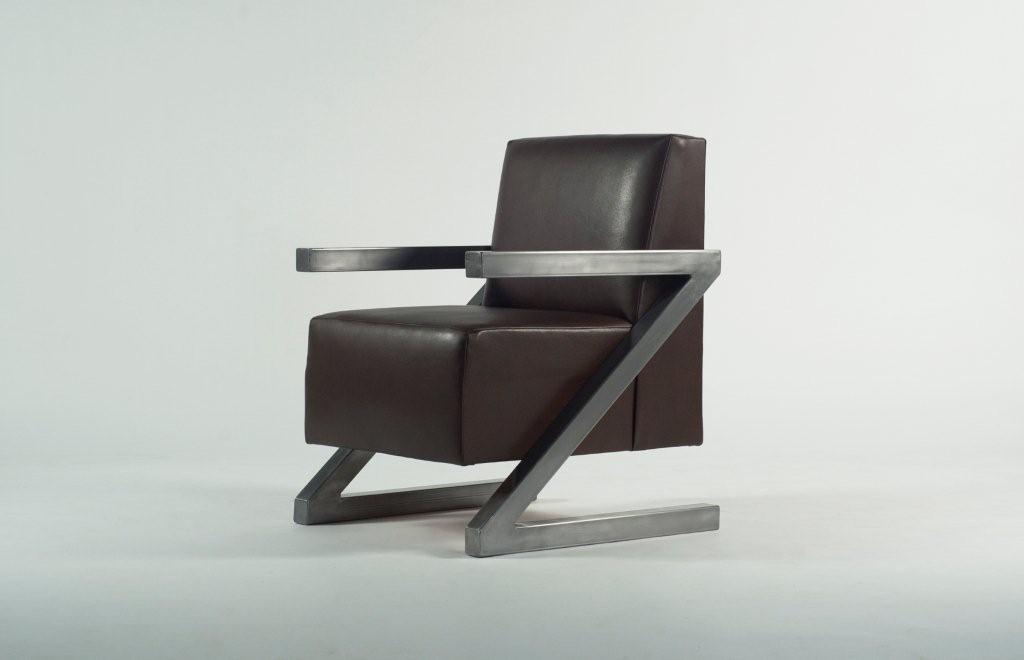 Coffee Bean & Teal Leaf Z Chair
