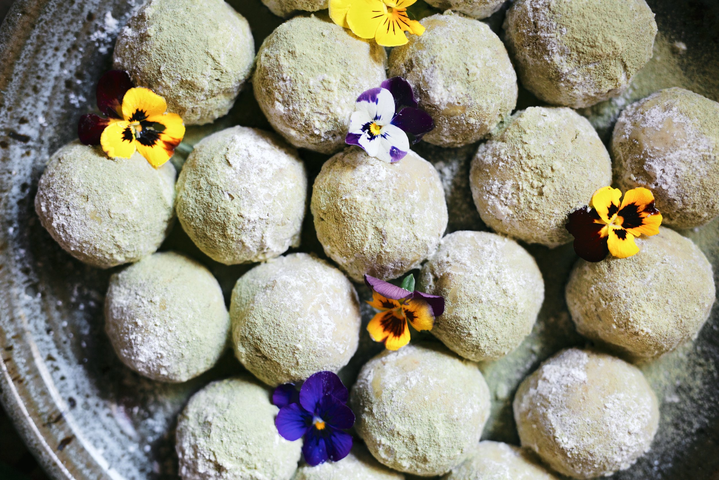 Alternative Baker Pistachio Lime Matcha Snowballs Emma K Morris