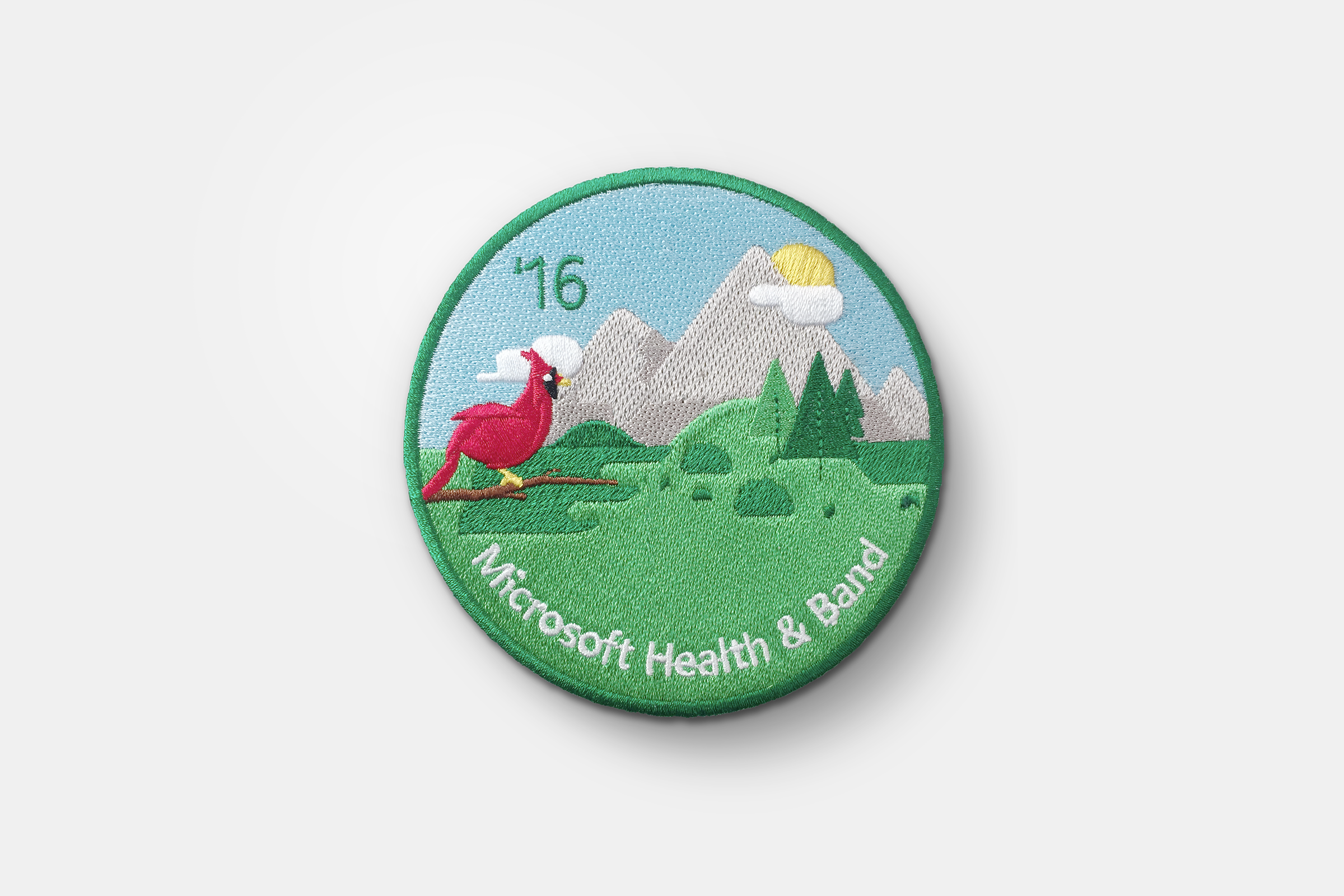 Microsoft Health & Band hiking patch, 2016