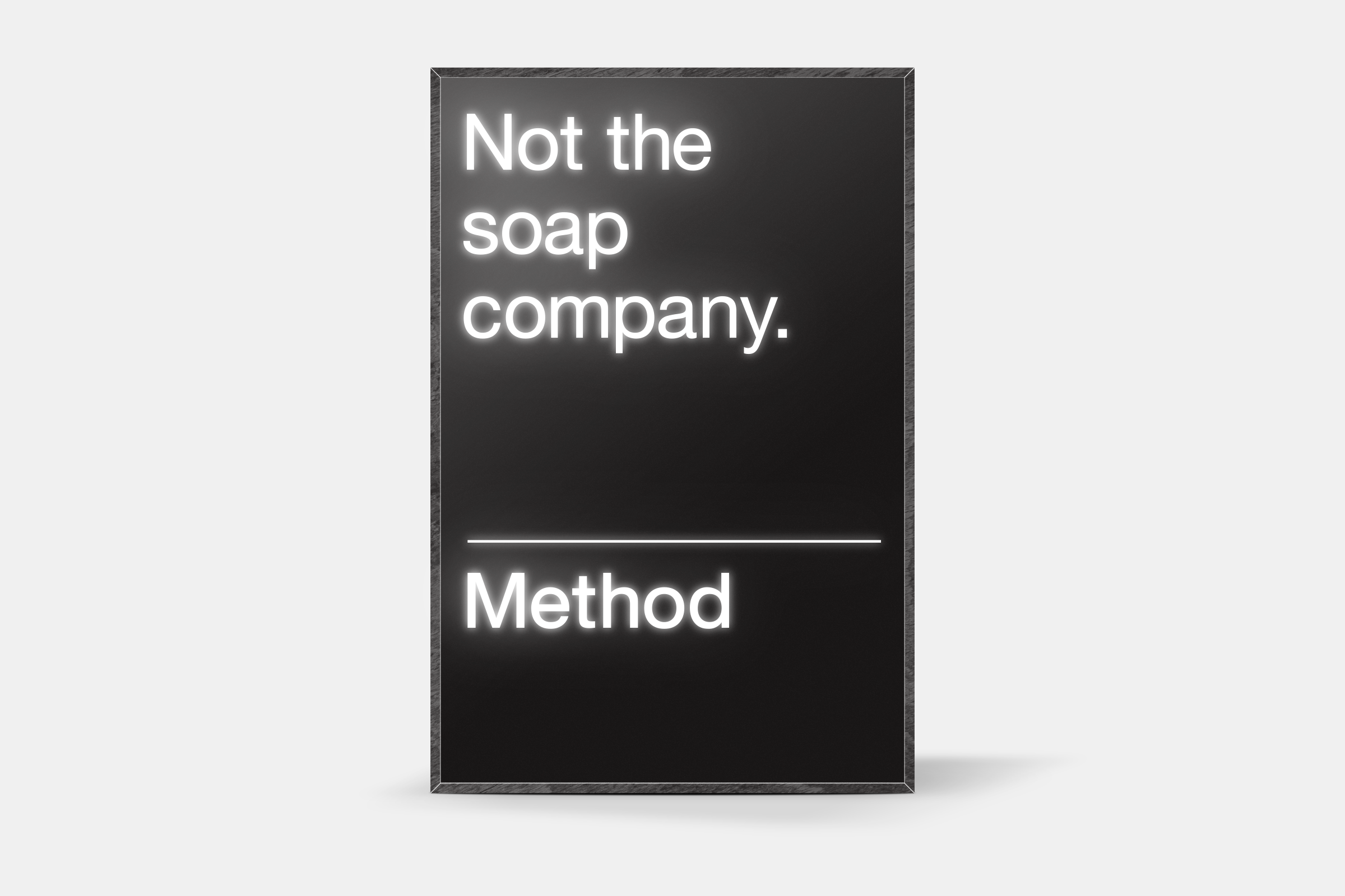 Method, lightbox, 2014