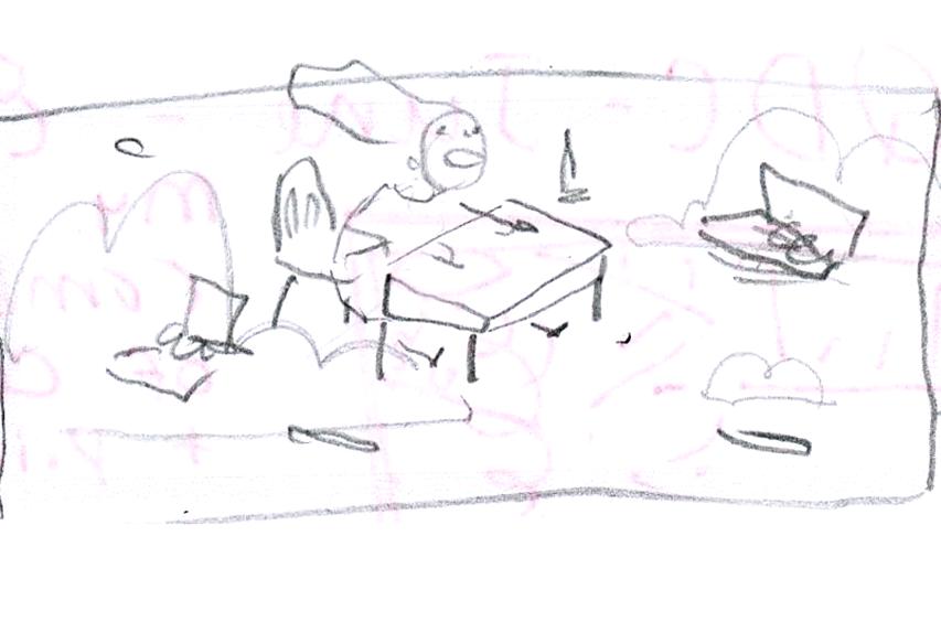 Doodle in sketchbook