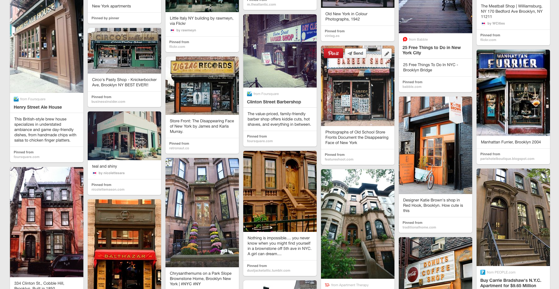 Brooklyn References on my Pinterest