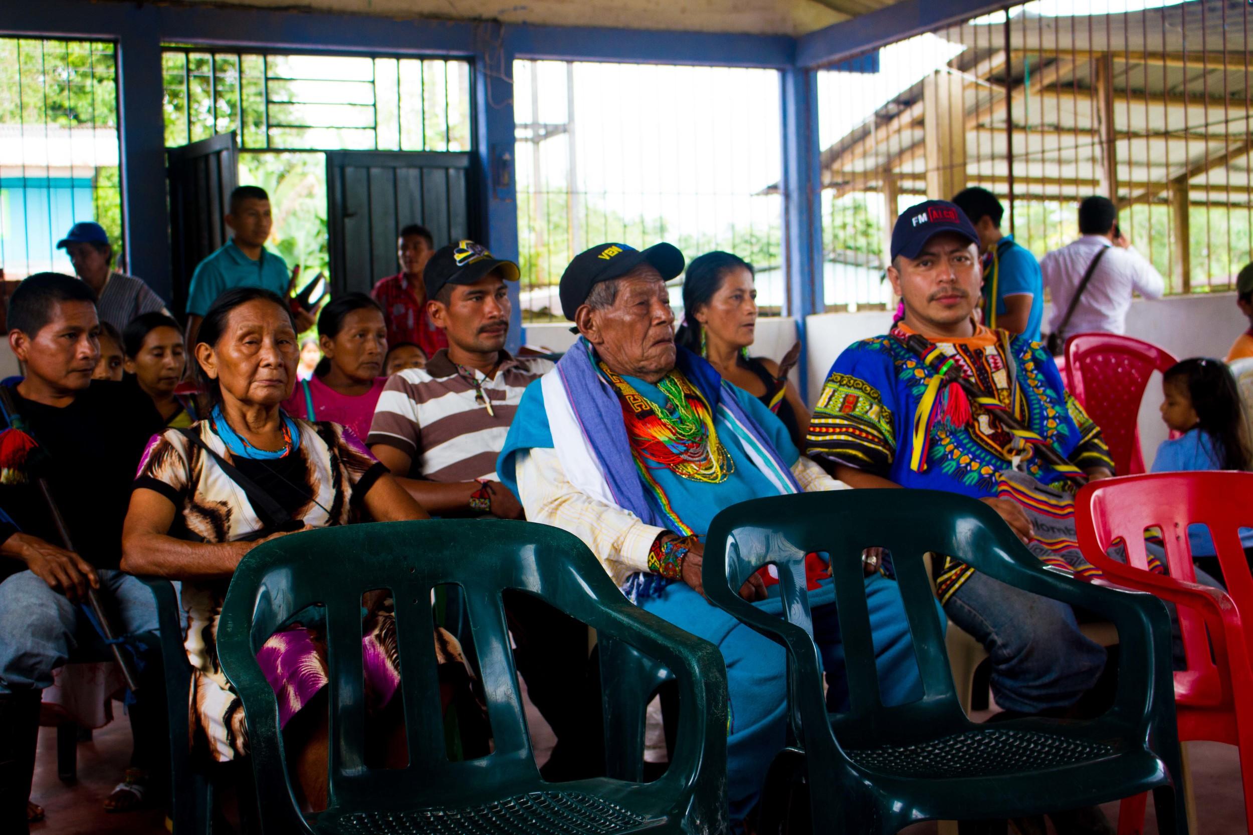 Abuela Maria, Taita Querubin and Lorenzo Moralesnew Governor.