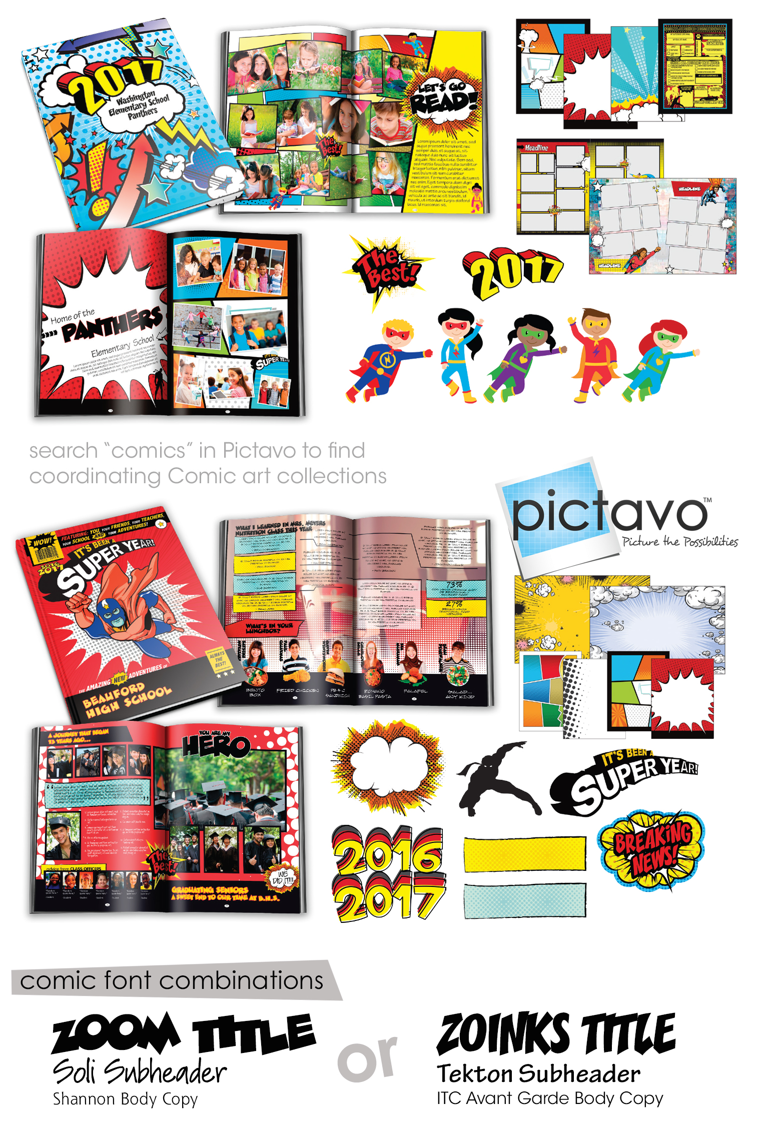 Pictavo Yearbook Comic Art Set