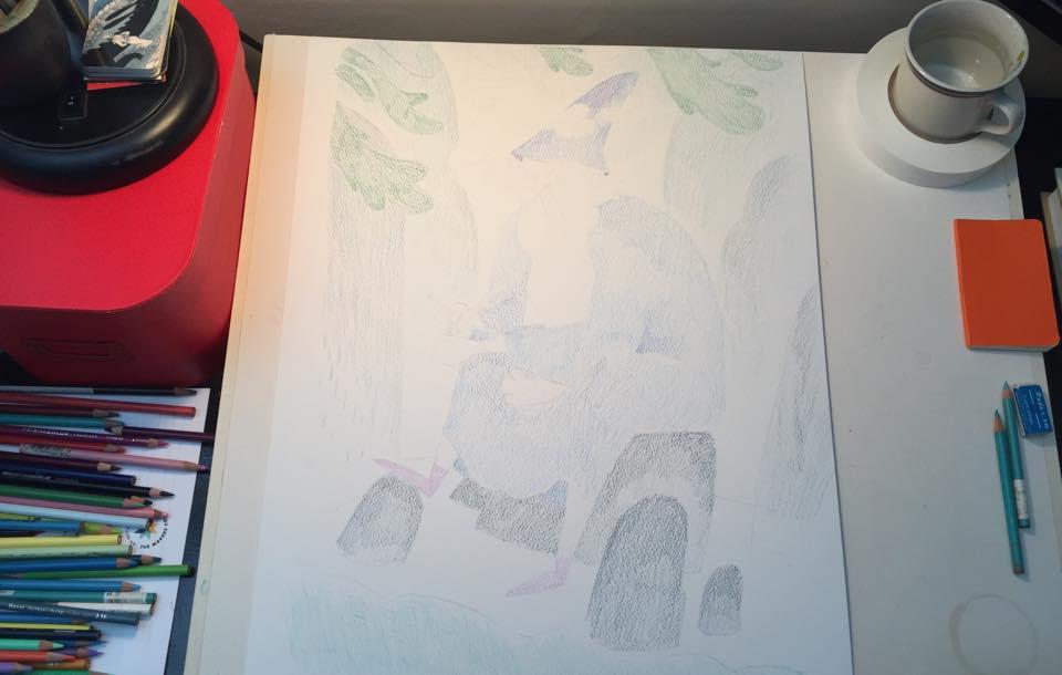 3. Tight Colored Pencils on Illustration Board
