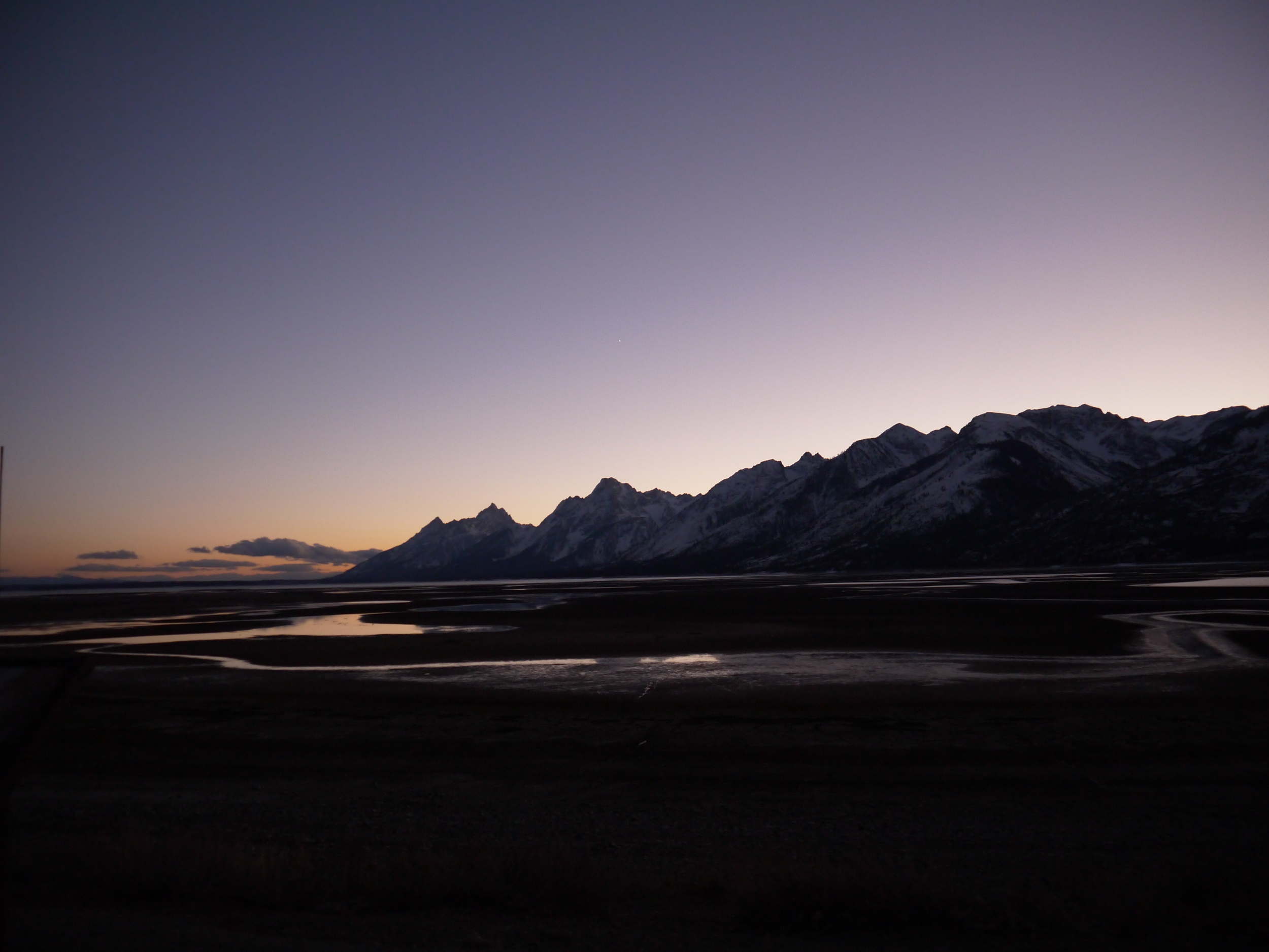 Driving from Ohio to San Francisco, the evening view at Yellowstone National park is arresting.