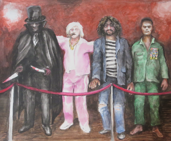 Villians  (Jack the Ripper, Jimmy Savile, Charles Manson, Pol Pot)