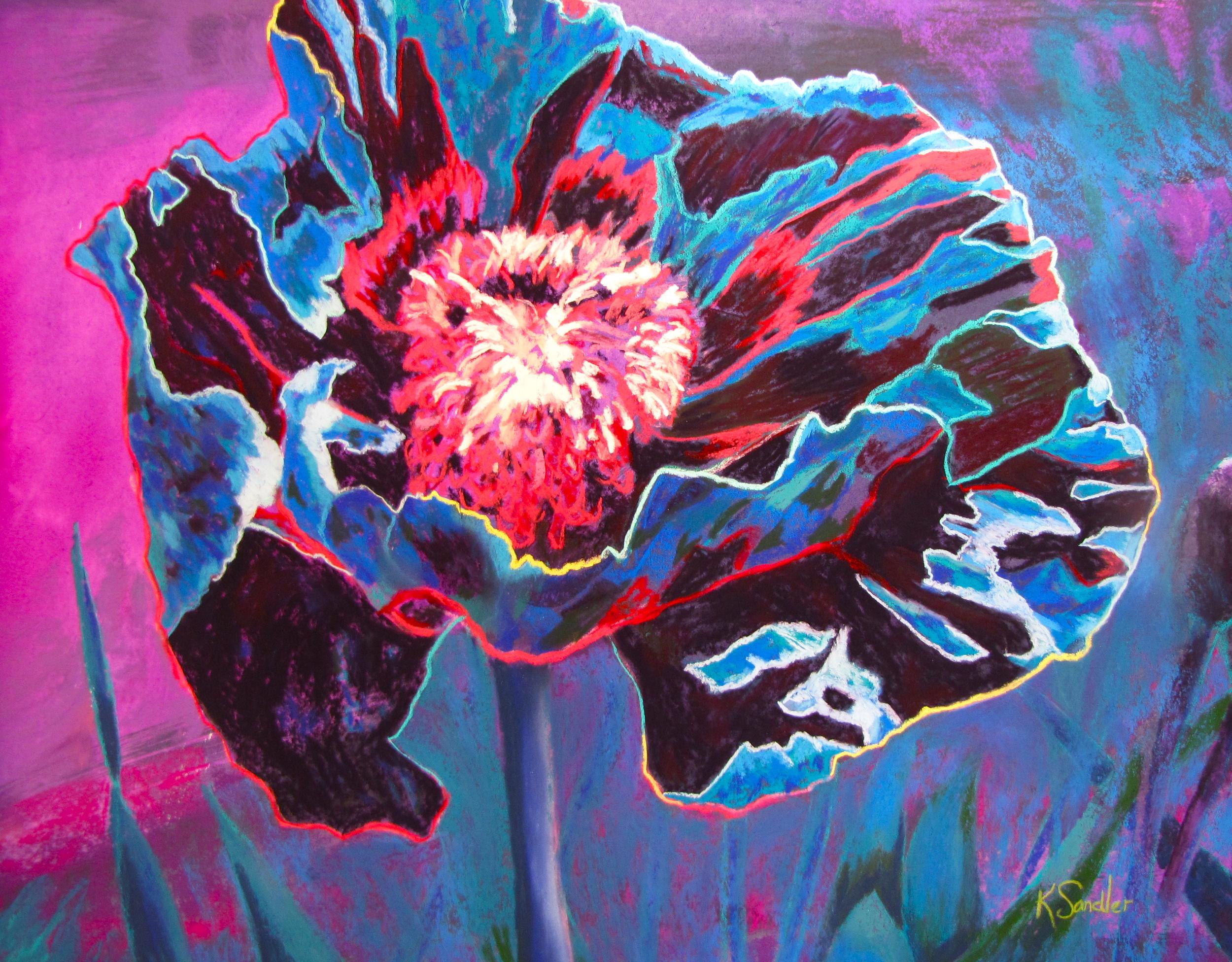 Poppy in blue. .JPG