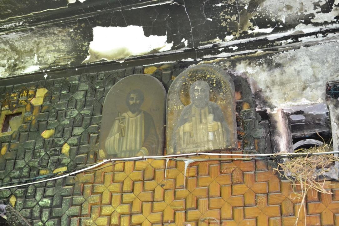 St. Michael's Church, burned out by an attack.  El-Diabiyya, Egypt  (2013)