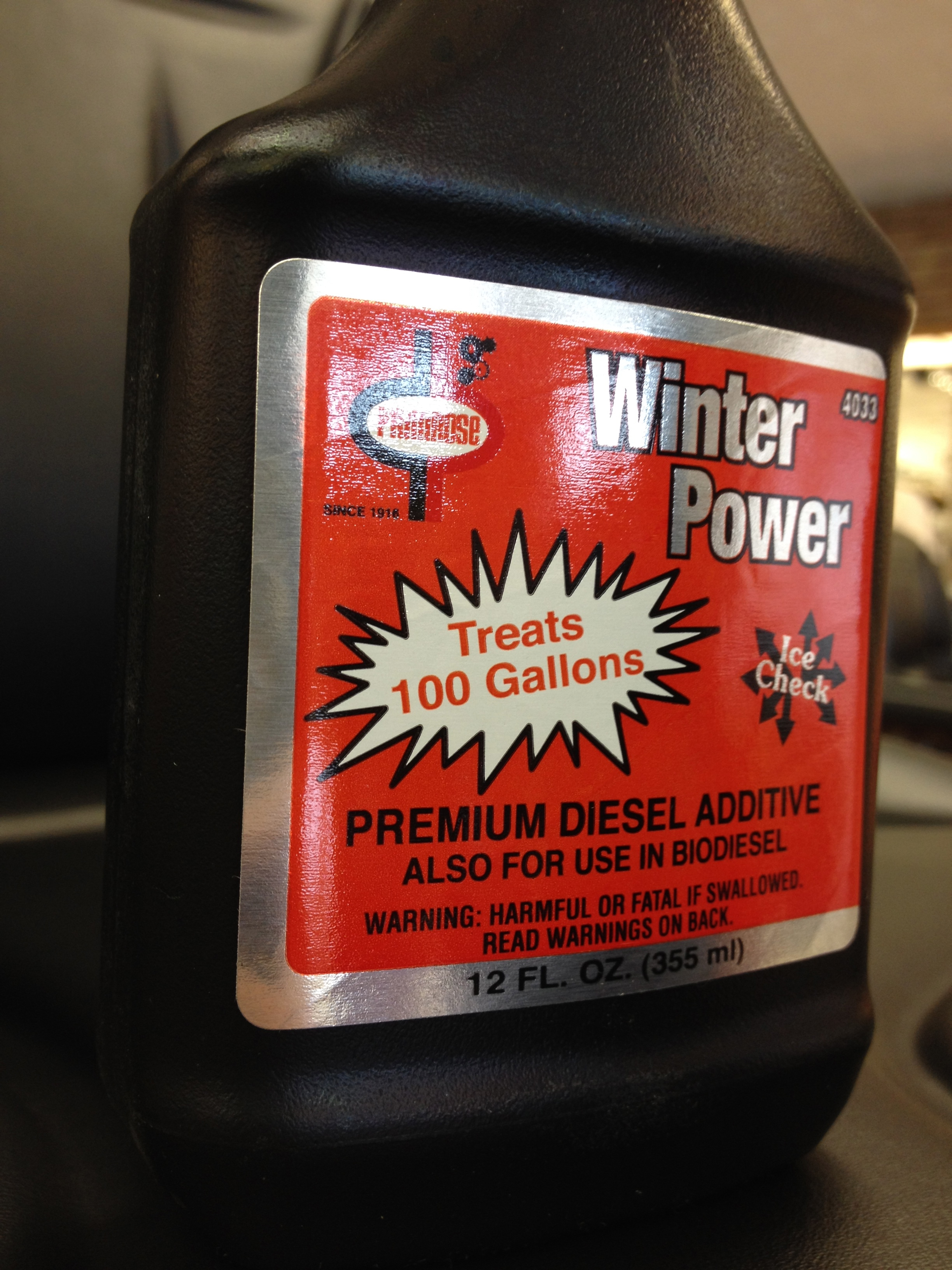 Winter Power By Primrose can help your Diesel fuel in the winter!