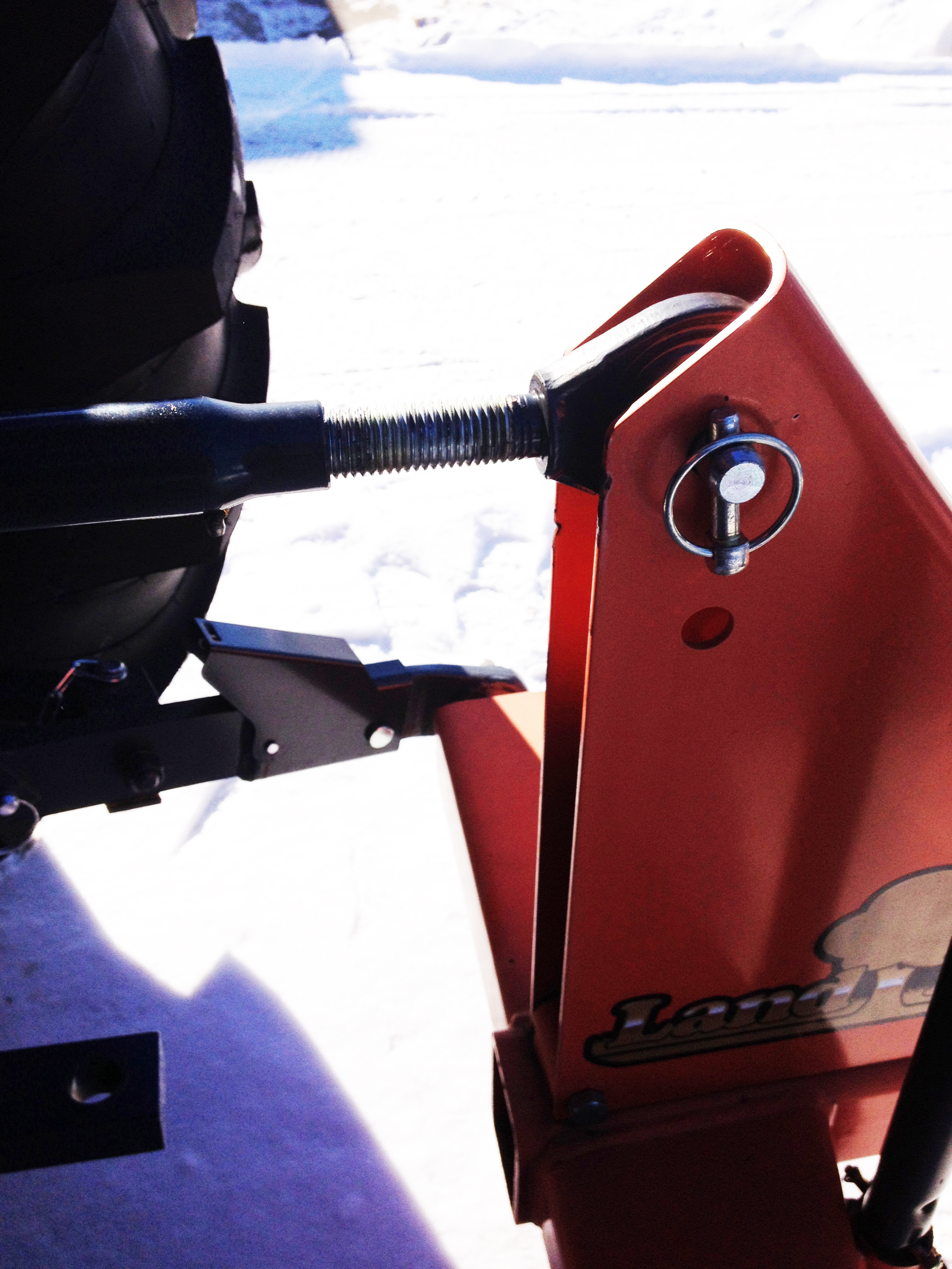 Adjust the Top Link on your Three-Point hitch to change your tilt