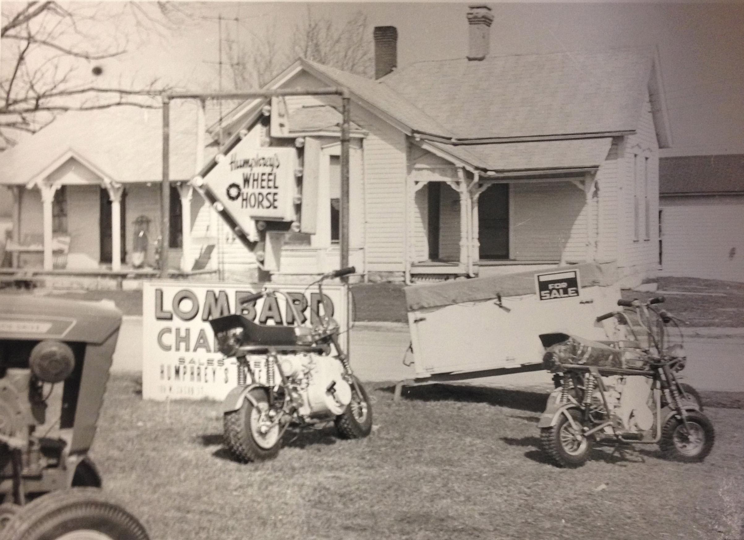 The original Humphreys' Wheel Horse circa 1966.