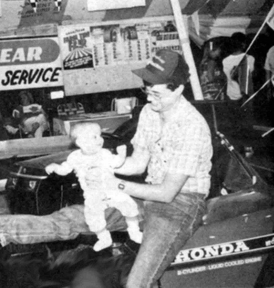 Brian and son Camron in 1989 at the Putnam County Fair!