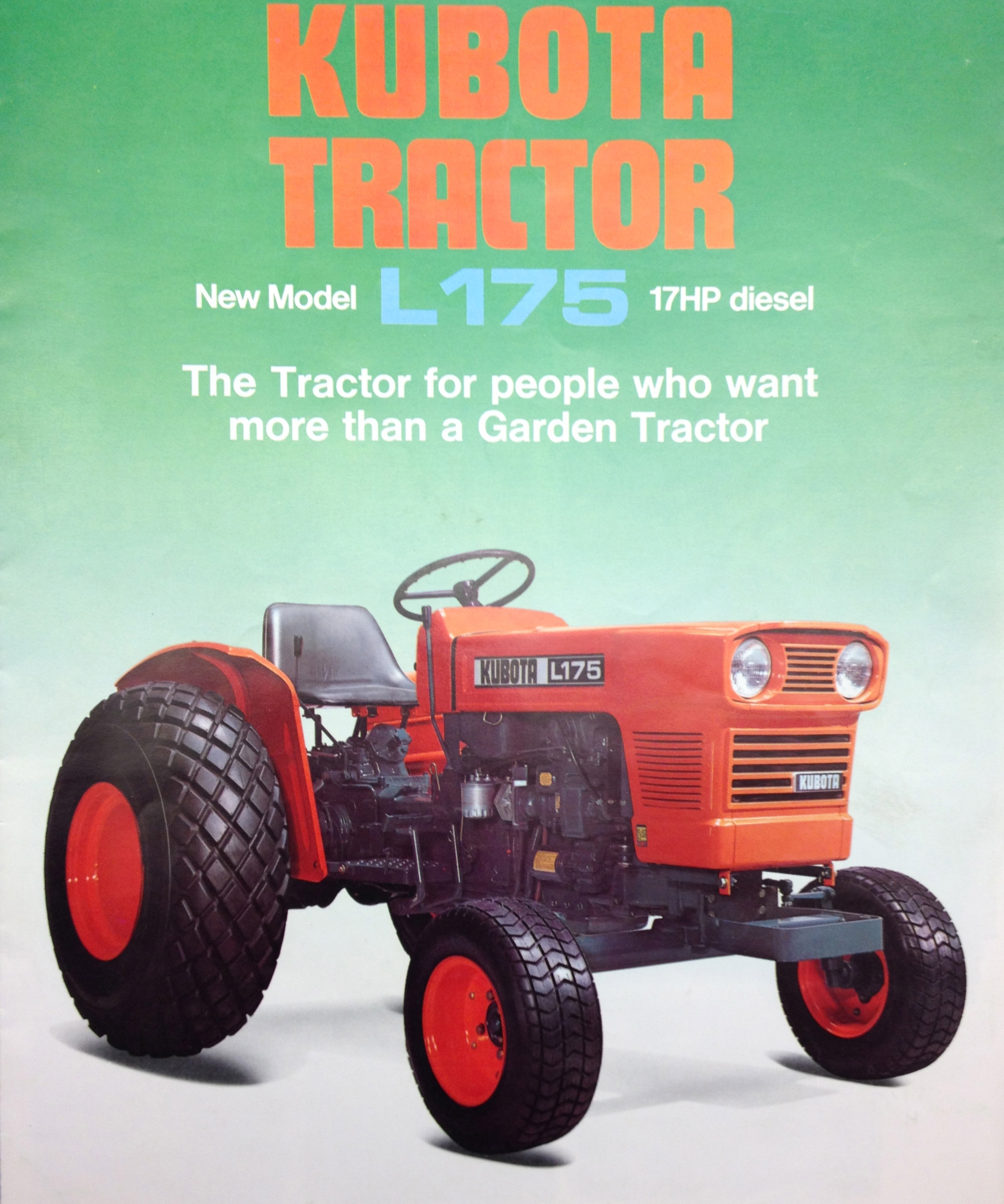 This is an example of the early Kubota literature around the time Humphreys' added the product line.