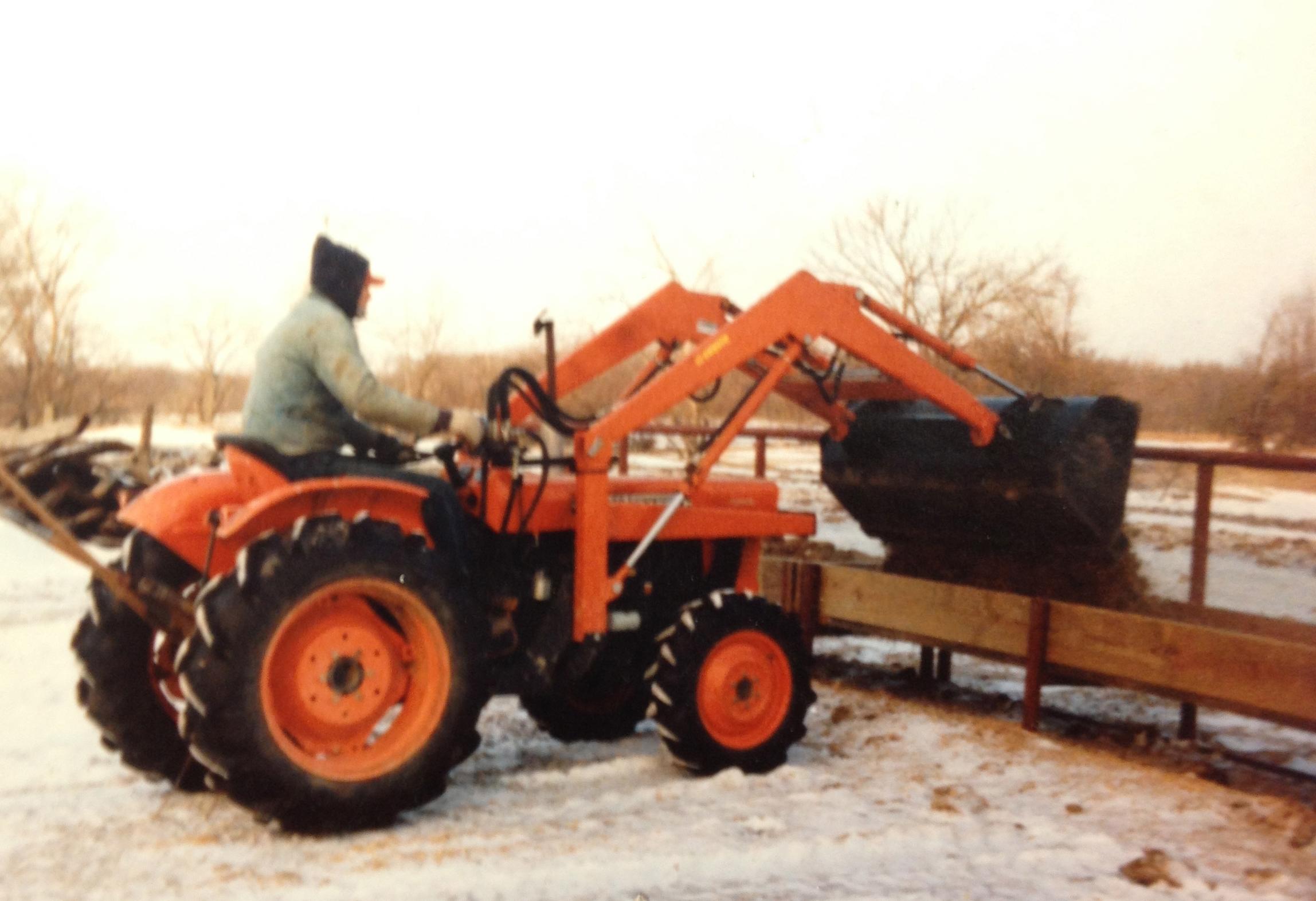 Rodney Humphreys, one of our early Kubota customers using his new Kubota.