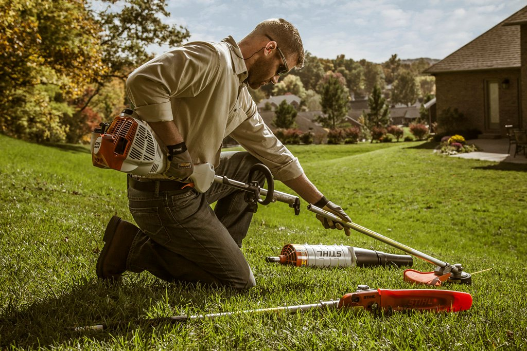 The Stihl Kombi System is a great way to make sure you always have the right tool for the job.