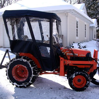 Aftermarket cabs can be great to keep you warm in the winter!