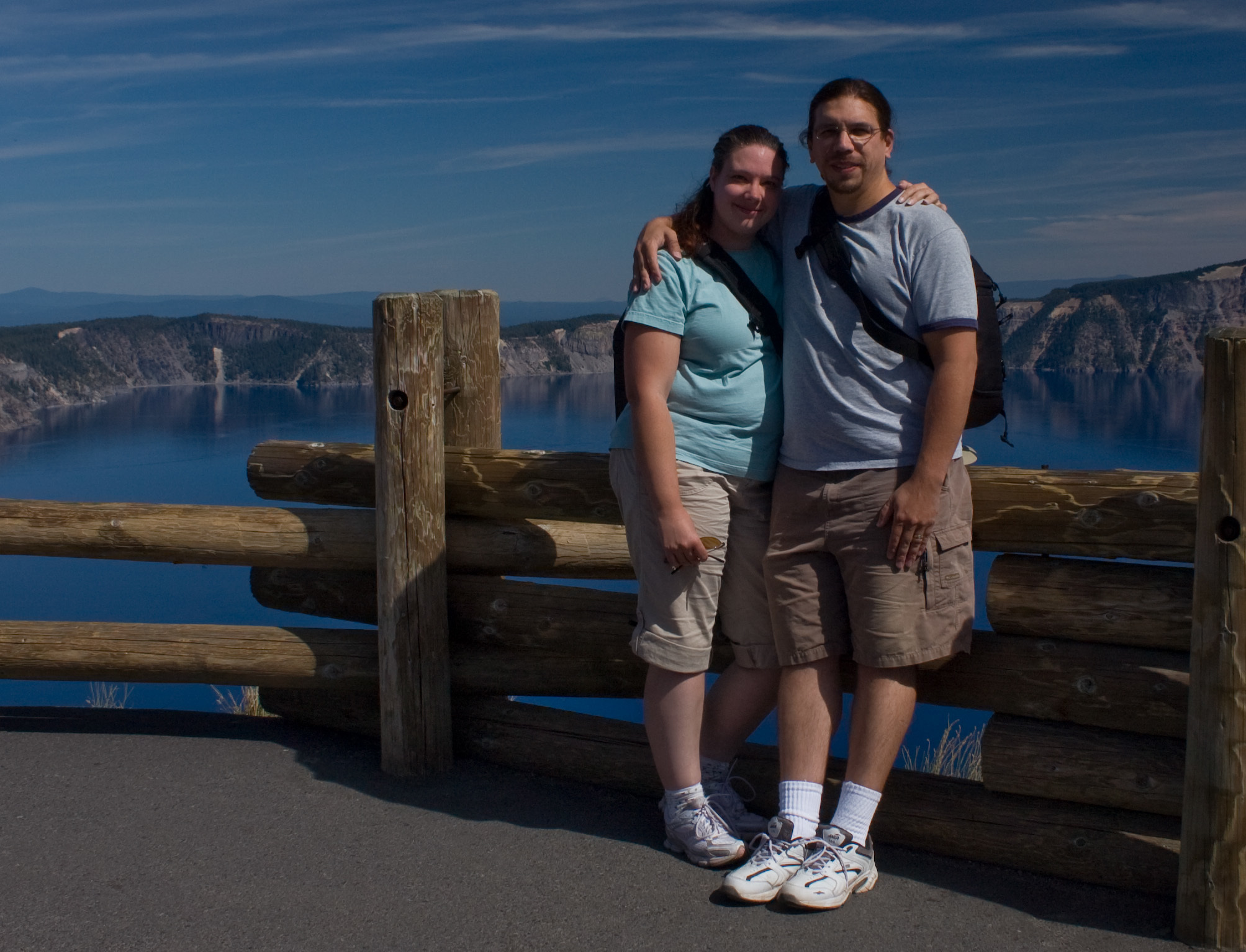The two of us at Mazama in 2009