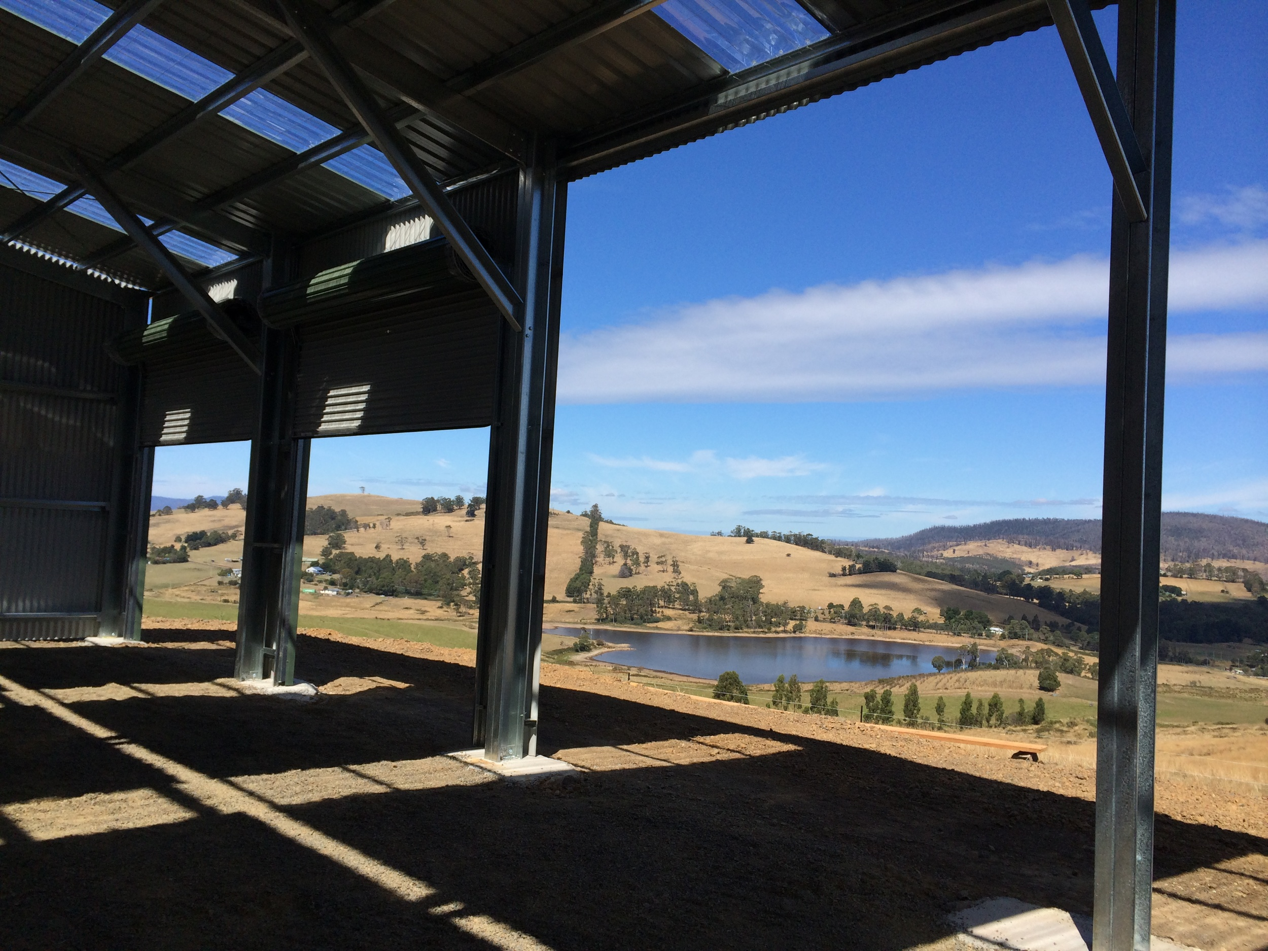 The shed is up and the view is spectacular - 1 March 2014
